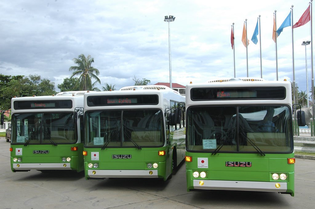 New Buses for Vientiane