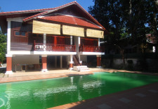 (662) House with Swimming Pool for rent (Vientiane, Laos)